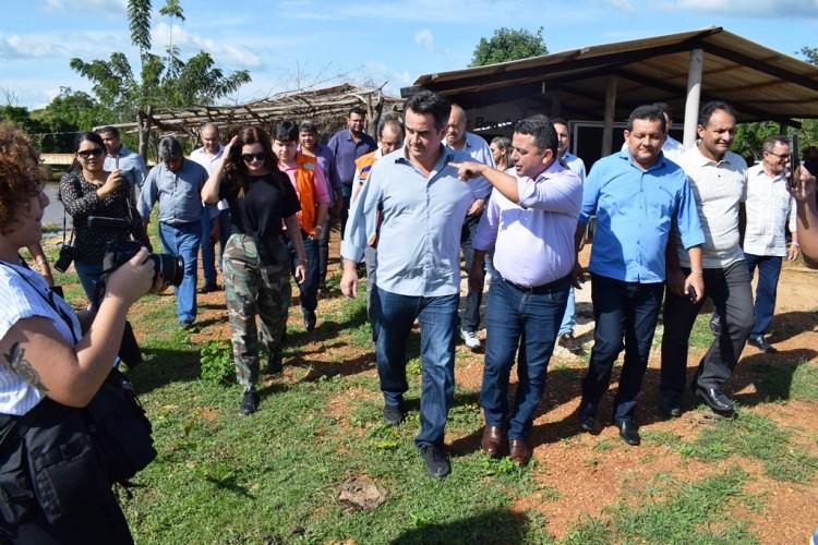 Prefeito Professor Ribinha e grande comitiva visitaram barragem