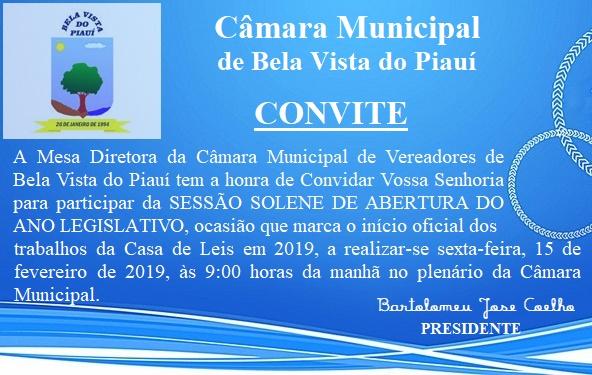 Câmara Municipal de Bela Vista do Piauí inicia ano legislativo