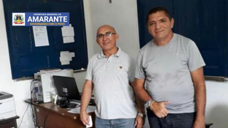 Pastor Josineide Amorim se reúne com supervisor da Agespisa