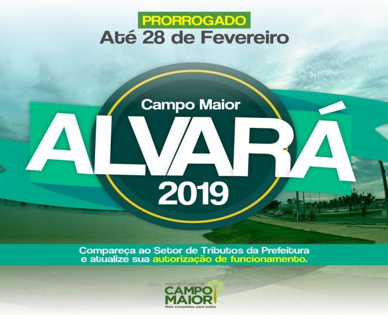 Prefeitura prorroga prazo para a regularização de Alvarás 2019