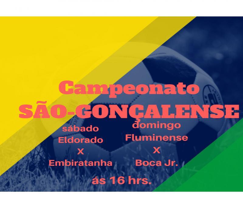 Campeonato São- gonçalense terá jogos decisivos neste fim de semana