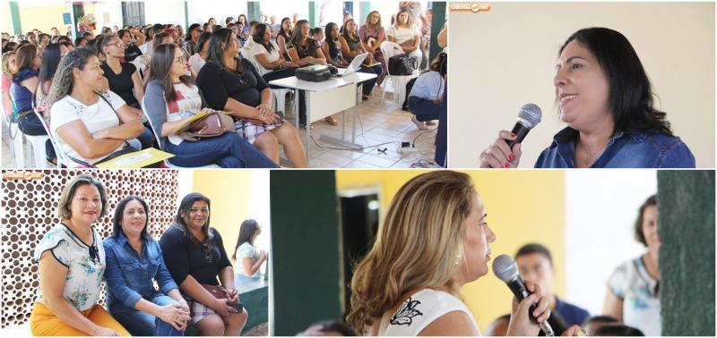 Palestra e oficinas abrem Semana Pedagógica em Jaicós