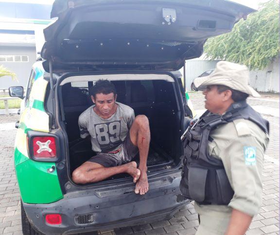 Ciptur captura acusado de arrombamento e furto