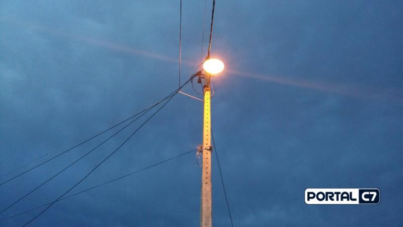 Reposição de lâmpadas trazem melhorias na iluminação pública em Amarante