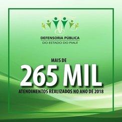 Defensoria Pública do PI realizou mais de 265 mil atendimentos
