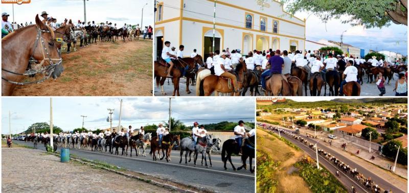 Missa do vaqueiro e 2ª Cavalgada Solidária foram realizadas em Fronteiras