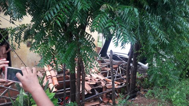 Veículo perde controle, derruba árvore e destrói casa na PI-210