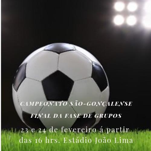 Última rodada da fase de grupos do Campeonato São-gonçalense