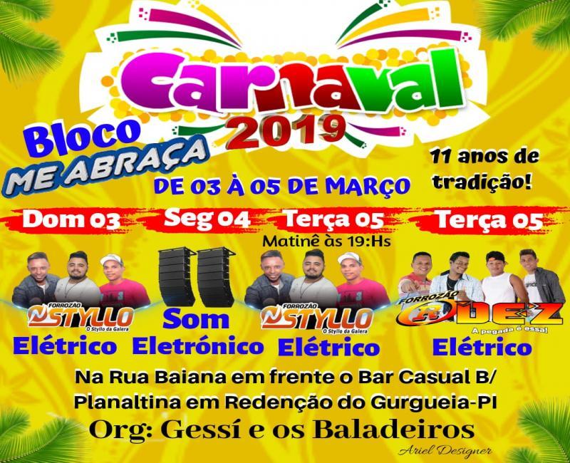 Bloco Me Abraça define programação do carnaval da rua Baiana