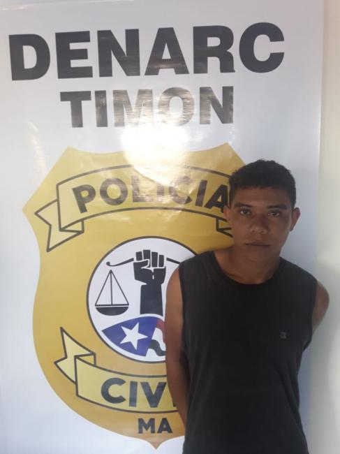 Preso em flagrante pela Denarc, acusado de vender Maconha e Crack em Timon