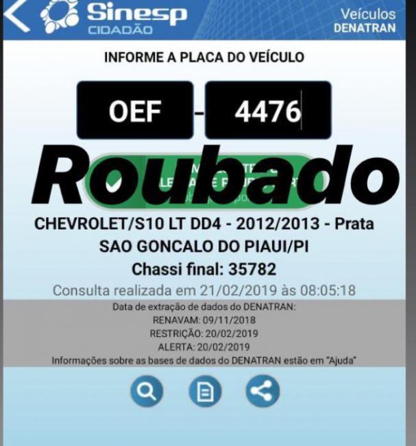 Empresário tem carro roubado em São Gonçalo do Piauí