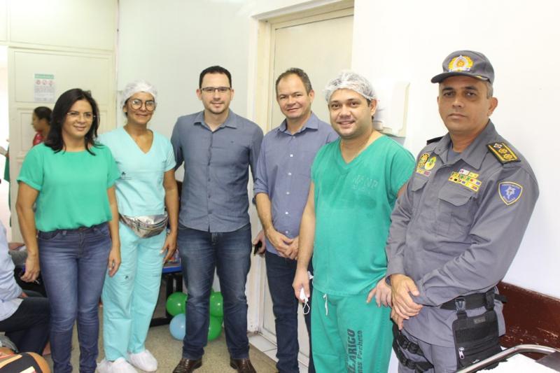 Rafael Leitoa prestigia o IV Mutirão de Cirurgias Pediátricas do HANP