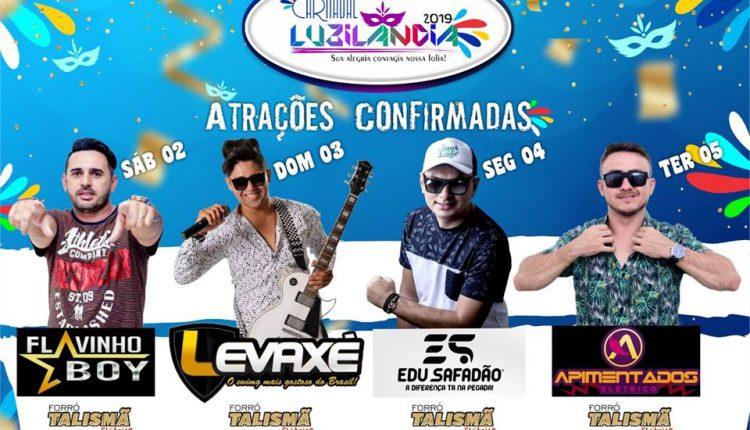 Confira a programação oficial do Carnaval 2019 em Luzilândia