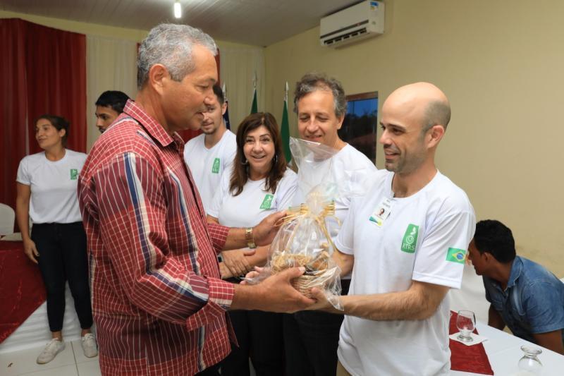 Sebastião Leal recebeu a visita de representantes da FAPCEN e da RTRS