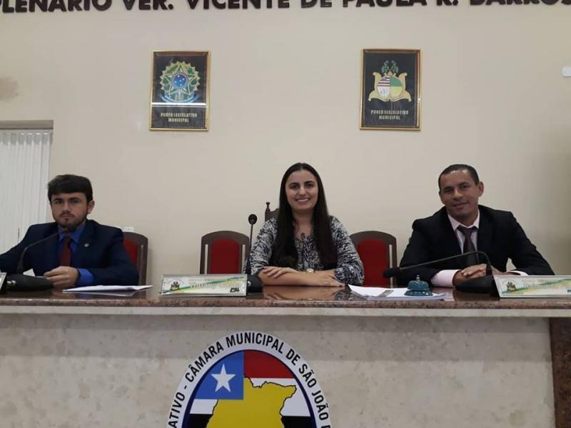 Realizada a terceira sessão de vereadores em São João dos Patos