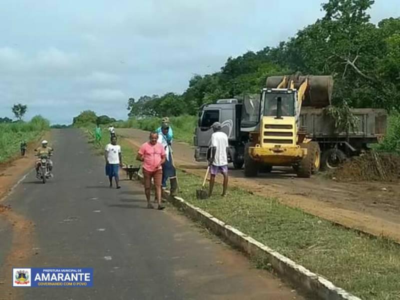 Prefeitura de Amarante realizou limpeza pública no município