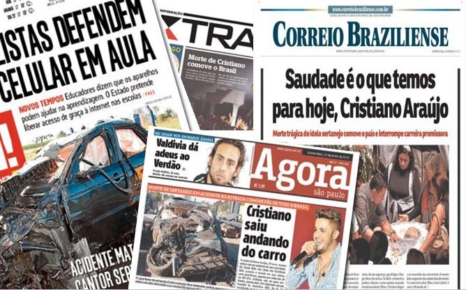 Destaques dos principais jornais hoje (Quinta-feira dia 28)