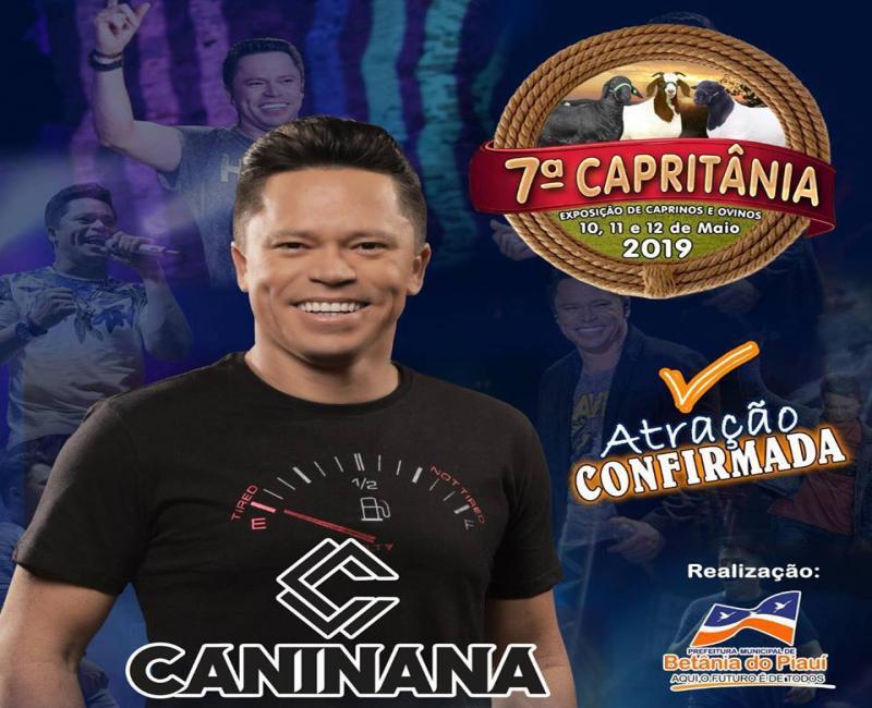 Prefeito anuncia mais uma grande atração para a Capritânia 2019
