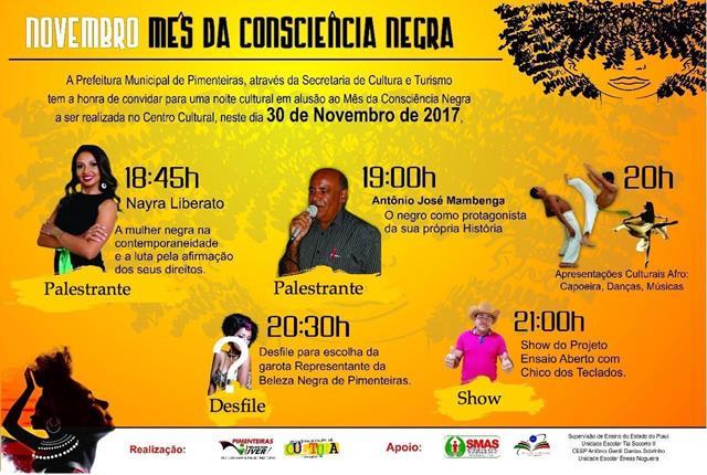 Desfile, palestras e show encerram mês da Consciência Negra em Pimenteiras