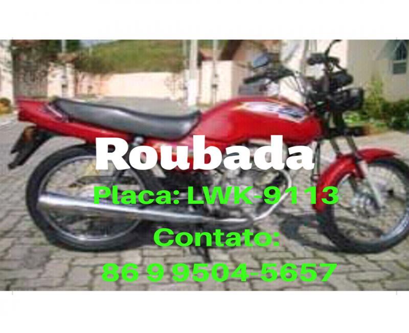 Moto é roubada na zona rural de São Gonçalo do Piauí