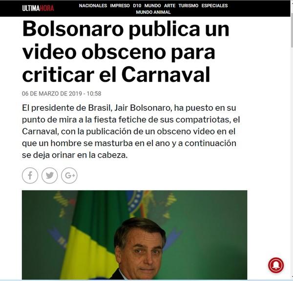 Posts de Bolsonaro com pornografia e 'golden shower' repercutem na imprensa