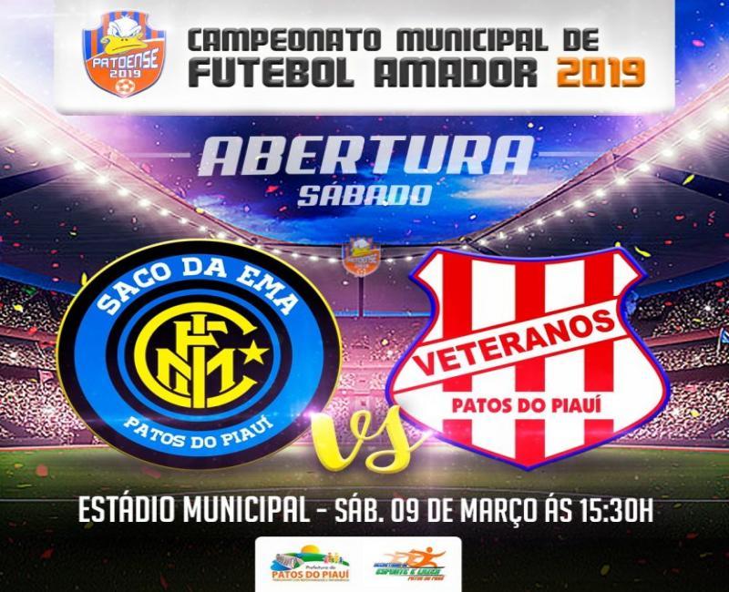 Campeonato Municipal de Patos do Piauí será aberto neste sábado