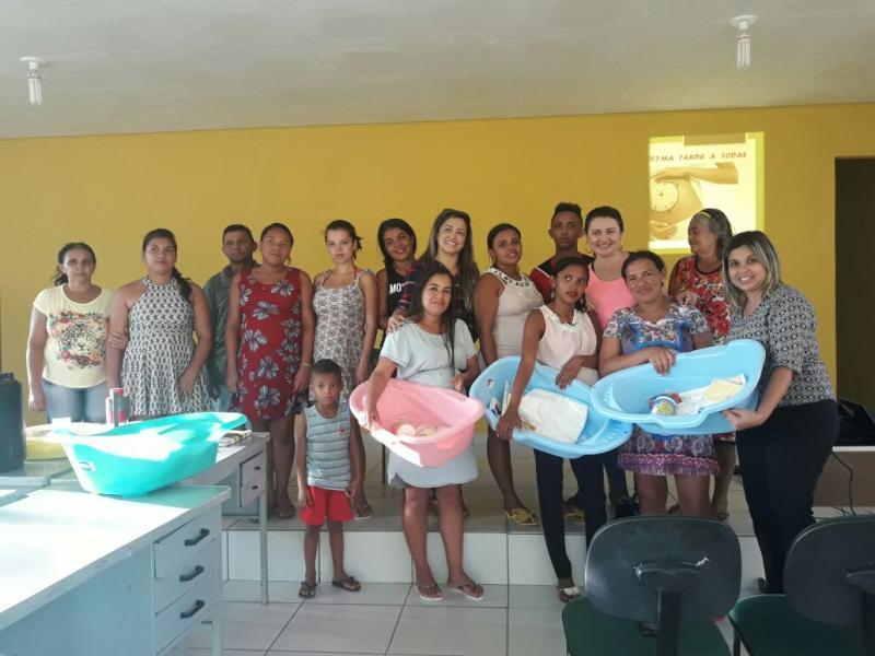 CRAS  de Olho D'água do Piauí, realiza encontro com gestantes