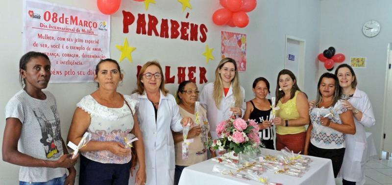 Mulheres são homenageadas na Unidade Básica de Saúde