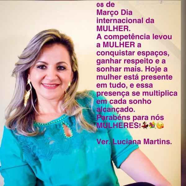Guadalupe - Vereadora Luciana Martins homenageia Mulheres no seu dia