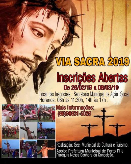 VIA SACRA| Inscrições para encenação da Paixão de Cristo em Porto-PI