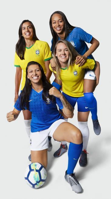 Nova camisa da seleção brasileira feminina é lançada