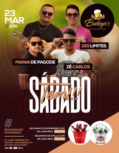Sábado dia 23 de março será a inauguração do Budega's bebidas