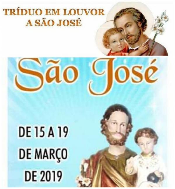 Tríduo de São José 2019|Será realizado pela Paróquia São José/ C. Largo-PI