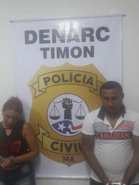 Denarc/Timon prende casal acusado de tráfico de drogas no 'Miguel Arraes'