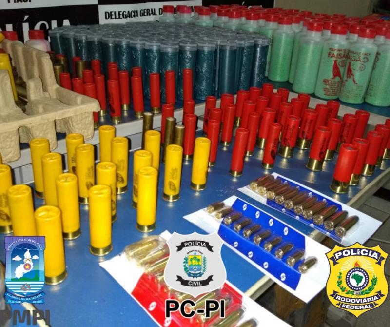 Polícia prende homem que comercializava munições no Piauí
