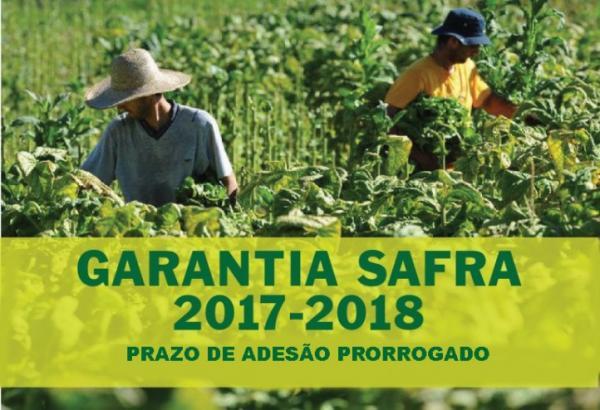 Prazo para adesão ao Plano Garantia Safra é prorrogado
