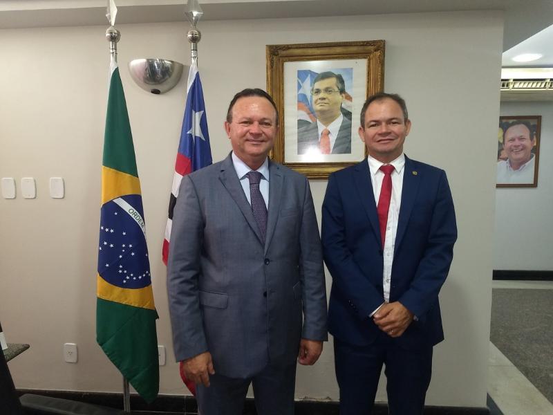 Em reunião, Rafael Leitoa e Carlos Brandão discutem políticas para o MA