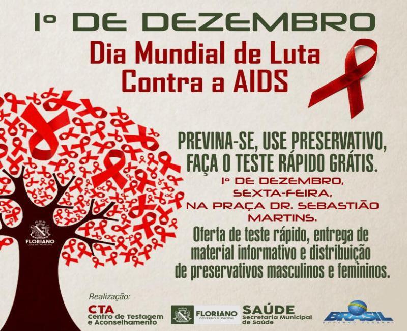 Saúde realizará ações no Dia Mundial de Luta Contra a Aids