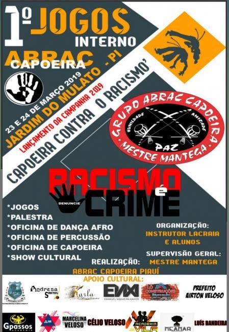 ABRAC realizará 1ºCampeonato de Capoeira em Jardim do Mulato-PI