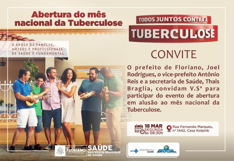 Saúde realizará abertura da Campanha da Tuberculose