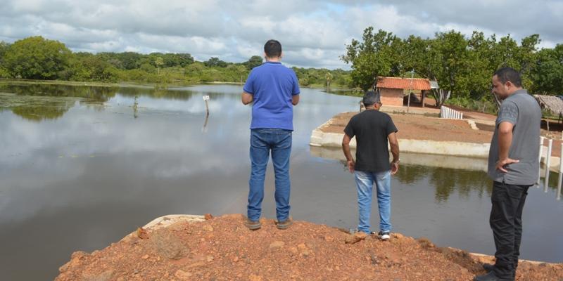 Defesa Civil estadual vistoria açude do Barreiro e faz recomendações