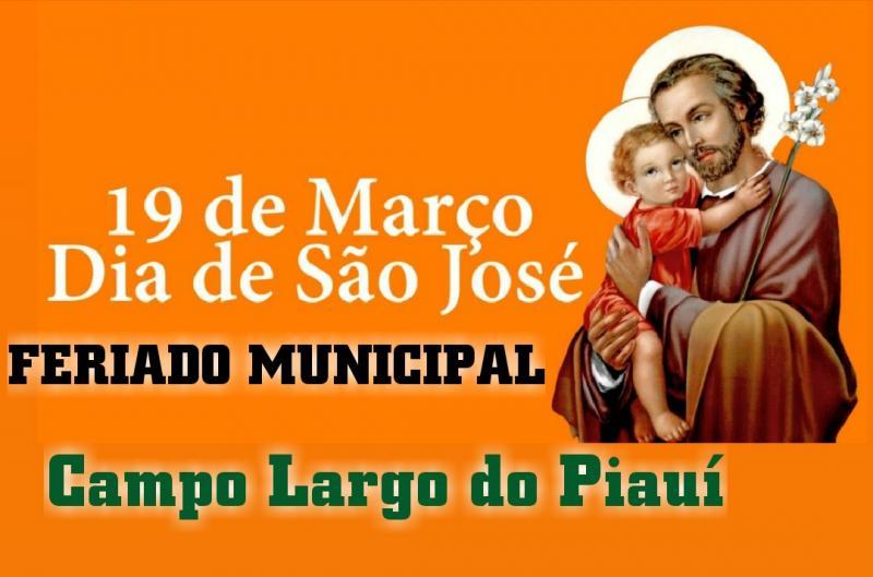 19 DE MARÇO | Pref. Rômulo Aécio decreta Feriado Municipal em Campo Largo