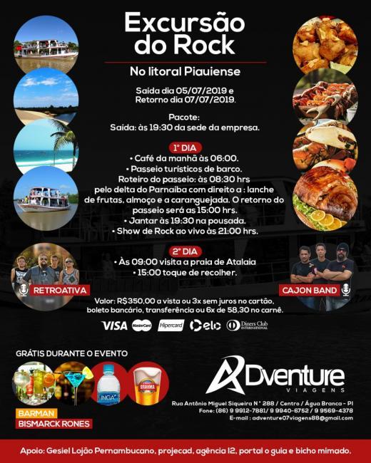 """Adventure Viagens apresenta """"Excursão do Rock"""""""