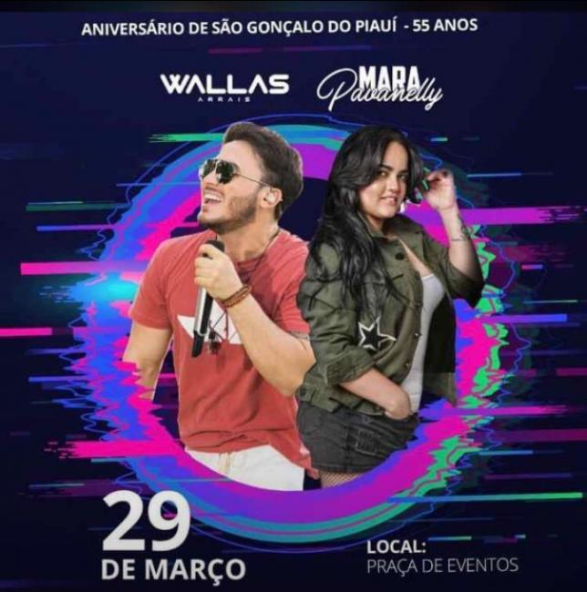 Divulgada as atrações da festa de aniversário da cidade de São Gonçalo - PÍ