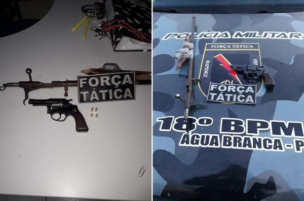 Homem é preso com armas e munições após atirar em via pública