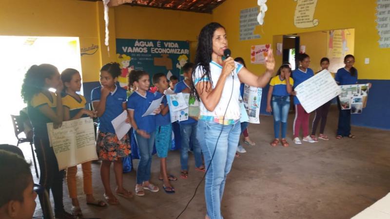 Escola Municipal Olho D'água realiza ação em alusão ao Dia Mundial da Água