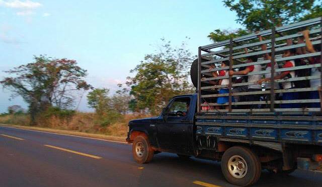 Alunos são flagrados sendo transportados em gaiolas de animais