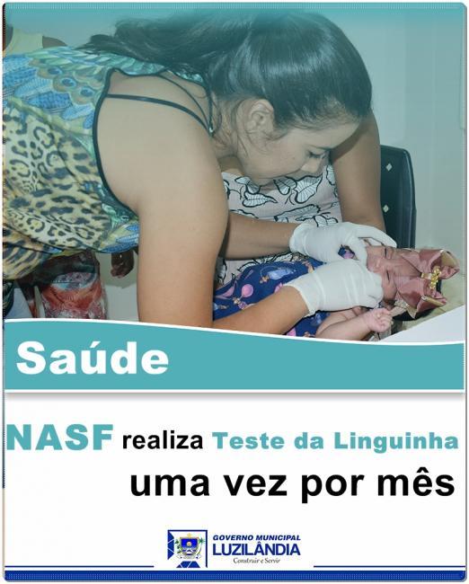 Teste da Linguinha são realizados mensalmente no NASF de Luzilândia