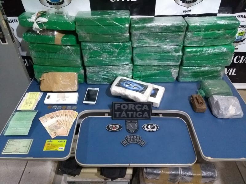 Polícia realiza maior apreensão de drogas do ano em Picos