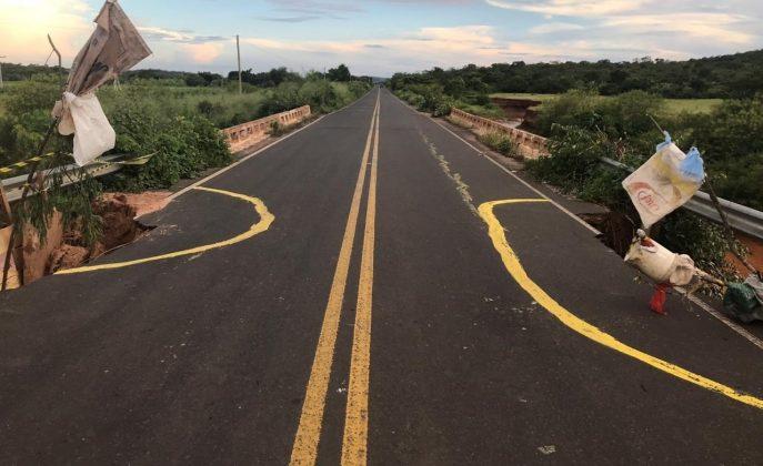 Rodovia no Piauí pode deixar região isolada a qualquer momento